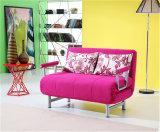 居間の家具Armrestが付いている機能ファブリックソファーベッド