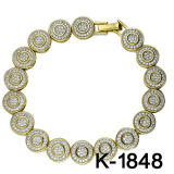 925의 은 팔찌 형식 보석 14k 금에 의하여 도금되는 남자의 팔찌
