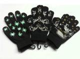 Связанные акриловые греют напечатанные волшебные перчатки/Mittens
