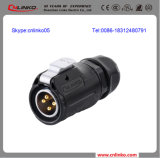 20A Effektivwert IP67 Watertight 4 Pin Aviation Connector