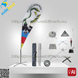 Im Freienadvertizing Beach Flag mit Carry Bag (Custom Supplier)