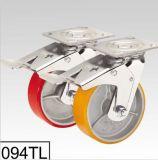 Émerillon rouge de semelle d'unité centrale avec la double chasse de dessus de plaque de frein