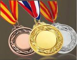 3D Metal Medal con Logo Embossed in Gold Color