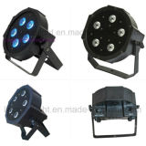 7X10W RGBW 4in1 PAR 64 Plano Mini Luz LED