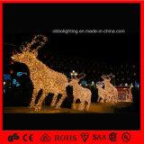 Populäres Licht-Weihnachtsren des Feiertags-2017 mit Pferdeschlitten-Motiv-Licht