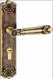 Bloqueos populares de cobre amarillo sólidos de la entrada del europeo y del diseño de Medio Oriente o de la maneta del sitio