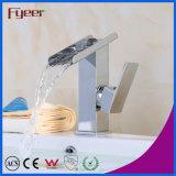 Faucet смесителя тазика водопада горячего сбывания Fyeer твердый латунный
