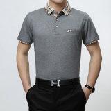 Très chemise 100% de polo de coton de qualité avec le logo de broderie