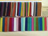 Couro material de couro do Synthetic do plutônio China da camurça especial do Dobro-Lado