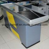 完全な金属スーパーマーケットによって使用されるキャッシャー通貨の机のチェックアウト・カウンター