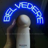 Mini ventilateur personnalisé à piles du message DEL avec le logo estampé (3509)