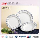 De cerámica de la porcelana de la placa plana de la cena de China