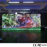 Gabinete a todo color LED del hierro del alto brillo fijado haciendo publicidad de la exhibición P3 de interior