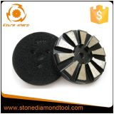 Konkreter Diamant-Metallfußboden-reibende Auflagen