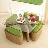 Sofà di vimini H-Esterno del giardino del rattan della mobilia