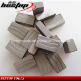 Forme de v Diamond Segments pour Hard Granite Cutting Blade