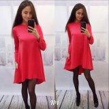 Платье туники способа 2016 женщин конструкции длинней детали шва цвета втулки чисто самое последнее