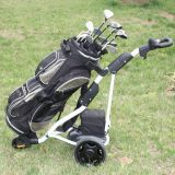 CE Certification 3 Wheel Electric Push Golf Trolley con Push Handle (DG12150-B)