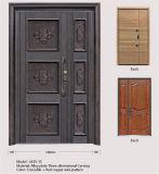 Europäische neue klassische Landhaus-Sicherheits-Aluminiumtür der Art-M15-35 mit hölzernem Tür-Panel