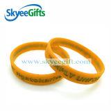 Neues Art Debossed Silikon-Armband für Förderung-Geschenk
