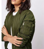 Wholesale Fashion Army Flight Life Spring and Fall Woman Collar Jacket