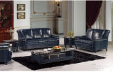 Salone Furniture con Genuine Leather Sofa Classical Sofa