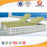 Кровать софы синтетического ротанга круглая с Daybed таблицы и сени напольным (UL-TDOU)