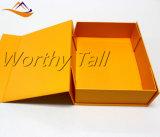 Rectángulo magnético plegable plegable plano plegable mate de la caja de cartón de los rectángulos de regalo de la cartulina del encierro magnético de encargo