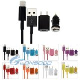 3 in 1 (UK&USA Plug Home Charger, Car Charger, USB Cable) Travel Kit für iPhone 6&Plus iPhone iPad Mini iPod Touch iPod Nano