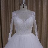 Платья венчания выравнивая длиннюю длиннюю втулку