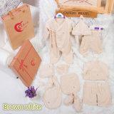 roupa orgânica do bebê do algodão 10PCS para o presente com o projeto encantador feito em China
