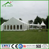 Белый напольный большой шатер выставки