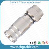 Conetor da compressão de F para o cabo coaxial Rg59 RG6 Rg11 do RF (F040)