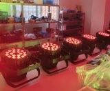 18X10W RGBW 4in1 wasserdichtes im Freienhochzeits-Aluminiumlicht