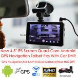 "Tabuleta nova PCS do carro de um toque de 5.0 "" IPS MEADOS DE com carro DVR, câmara de vídeo de Digitas do carro 5.0mega, câmera de estacionamento do Rearview, Bluetooth, FM-Transmissor, Avoirdupois-em, WiFi"