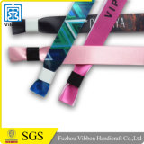 Wristband сатинировки франтовских цветастых браслетов ткани сублимации одноразовый