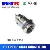 Crimp Wire terminal macho Cable coaxial F Conector