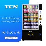 軽食および飲料Tcn10gのための24の時間のセルフサービスの自動販売機冷やされている