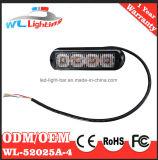 4W LEDのストロボの警報灯の表面の台紙