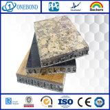 La piedra del granito hizo frente al panel de aluminio laminado del panal