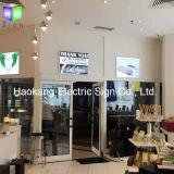 상점 표시를 위한 황급한 알루미늄 백색 액자 호리호리한 LED 가벼운 상자