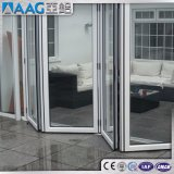 Puerta de plegamiento de cristal de aluminio de las puertas del doblez del BI