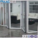 Porte pliante biseau / Porte pliante en verre en aluminium