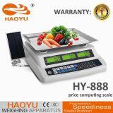 Prezzo di verdure che computa pesando la scala di Digitahi con il comitato solare