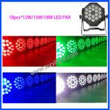 Het hete LEIDENE van het PARI 18PCS *12W RGBW Licht van het PARI