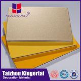 Los paneles de pared compuestos de aluminio materiales del revestimiento más barato de la pared exterior de la anchura de Alucoworld 2mm-6m m