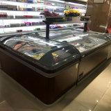 Congelador de la visualización de la isla del pecho del helado del supermercado con el Ce certificado