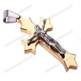 Traversa Pendant della collana cattolica dell'acciaio inossidabile, traversa religiosa della collana (IO-st00G)