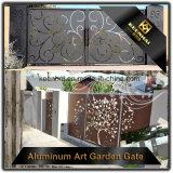 Porte d'entrée en aluminium de villa de coupure de laser