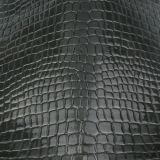 Couro artificial do crocodilo do PVC do plutônio para o saco de mão